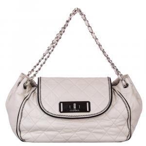 Chanel White Leather Accordion CC Reissue Shoulder Bag