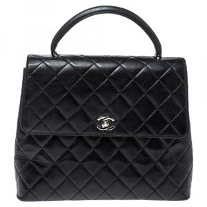 Chanel Black Leather Vintage Kelly Bag