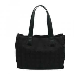 Chanel Black Nylon New Travel Ligne Tote PM Bag