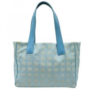 Chanel Blue Nylon Travel Ligne Tote Bag