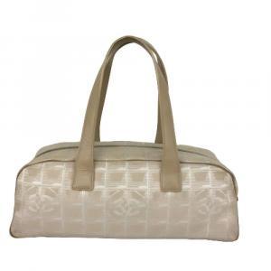 Chanel Beige Nylon Travel Line Mini Bowler Bag