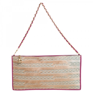 Chanel Beige/Pink Pony Hair Pochette