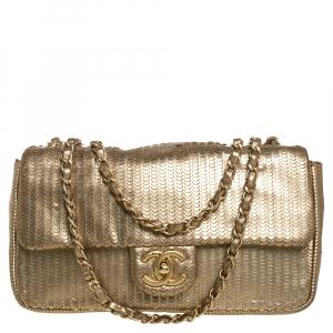 Chanel Gold Leather 31 Rue Cambon Medium Classic Single Flap Bag