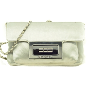 Chanel Evening bag in Duchess Satin and Ruthenium hardware