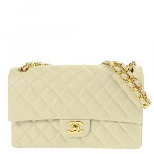 Chanel Beige Quilted Leather Flap Bag