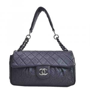Chanel Purple Leather Shoulder Bag