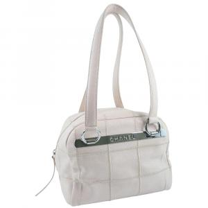 Chanel Pink Leather Chocolate Bar Shoulder Bag