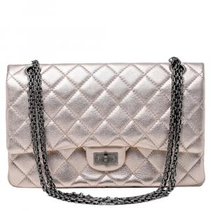 Chanel Metallic Leather Reissue 2.55 Classic 225 Flap Bag