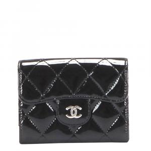 Chanel Black Patent Leather CC Timeless Shoulder Bag