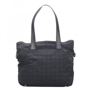 Chanel Black New Travel Line Nylon Tote Bag