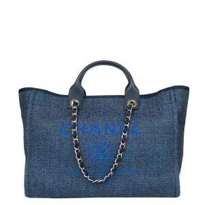 Chanel Blue Denim Deauville Tote Bag