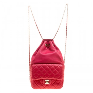 Chanel Red Quilted Leather Small Seoul Backpack