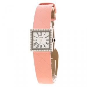 ساعة يد نسائية شانيل مادموزيل فينتدج ألماس أبيض ستانلس ستيل 22 مم