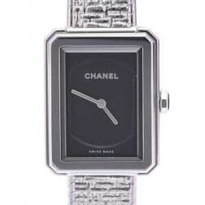 Chanel Black Stainless Steel Boyfriend H4876 Women's Wristwatch 21.5 X 28 MM