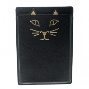 Charlotte Olympia Black Leather Feline iPad Mini Case