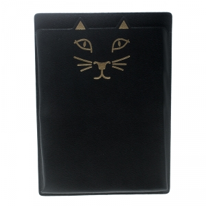 Charlotte Olympia Black Leather Feline iPad Case