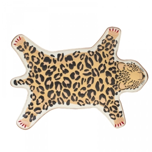 Charlotte Olympia Brown/Leopard Print Leather Out of Africa Clutch
