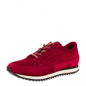 Charlotte Olympia Red Velvet Work It! Sneakers Size 37