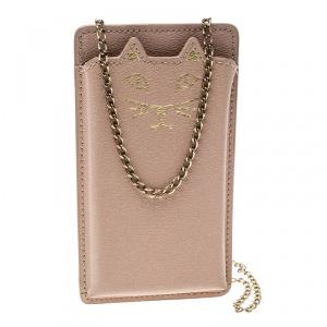 Charlotte Olympia Blush Pink Leather Feline IPhone 6 Case
