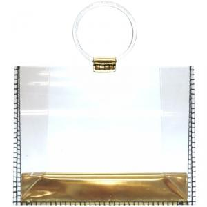 Charlotte Olympia Clear PVC Top Handle Bag