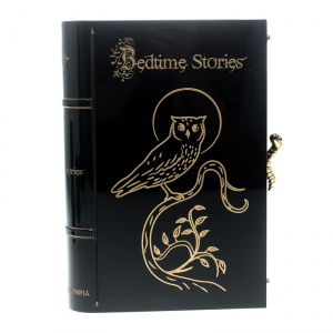 Charlotte Olympia Black Acrylic Bedtime Stories Novel Clutch