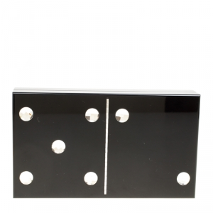 Charlotte Olympia Black Perspex Domino Pandora Box Clutch