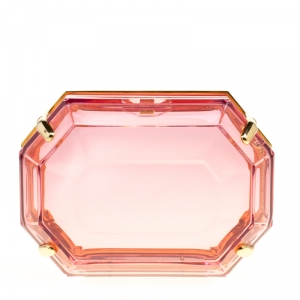 Charlotte Olympia Pink Perspex A Girl's Best Friend Clutch