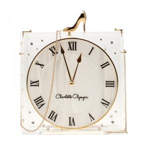 Charlotte Olympia Acrylic Disney's Cinderella Time Piece Clutch