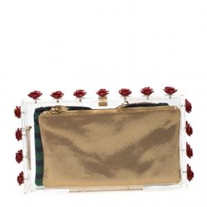 Charlotte Olympia Plexiglass Ring A Ring O Roses Pandora Box Clutch
