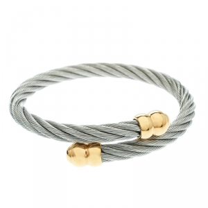 Charriol Twisted Cable Gold Tone & Silver Tone Adjustable Bracelet