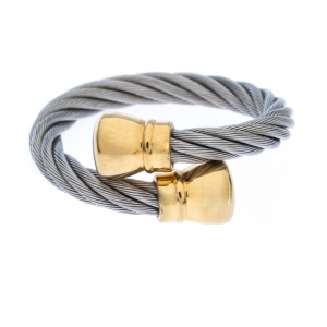 Charriol Celtic Bourse Titanium Cable and Gold Plated Ring Size 54.5