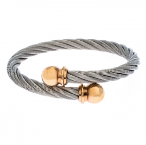Charriol Celtic Torque Twisted Cable Two Tone Adjustable Bracelet