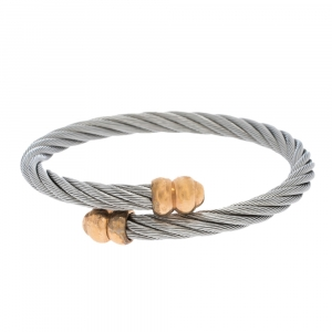 Charriol Celtic Double Godrons Two Tone Bypass Adjustable Bangle