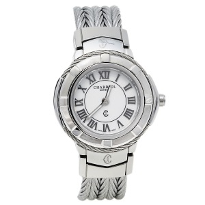 Charriol White Stainless Steel Celtic CE426S.640.007 Quartz Women's Wristwatch 27 mm