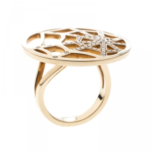 Chaumet Catch Me If You Love Me Diamond 18K Yellow Gold Ring