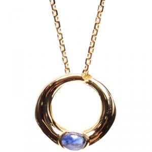 Chaumet 18K Yellow Gold Sapphire Long Chain Necklace