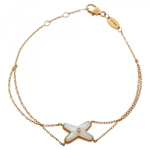 Chaumet Jeux de Liens Diamond Mother of Pearl 18K Rose Gold Bracelet
