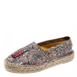 حذاء إسبادريلز شيارا فيراني فشار وكوك غليتر متعدد الألوان ميتالك مقاس 39