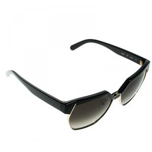 Chloe Black/Black Gradient CE665S Dafne Geometric Metal Mix Sunglasses