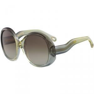Chloe Brown Sage CE732S Oversized Round Sunglasses