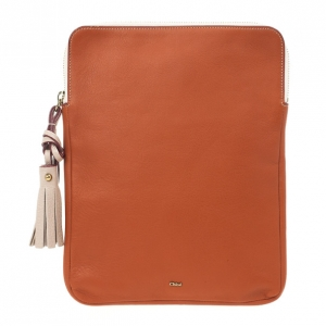 Chloe Orange Leather Eva iPad Cover