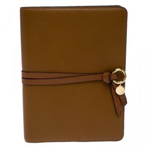 Chloe Brown Leather Notebook Organizer