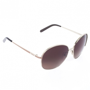 Chloe Gold Brown 104S Round Women's Sunglasses