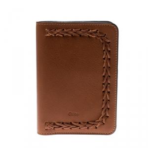 Chloe Brown Leather Passport Holder