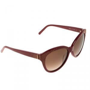 Chloe Brown/Red CE627S Cat Eye Sunglasses
