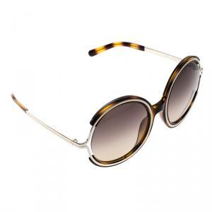 Chloe Brown Havana CE 708S Round Sunglasses