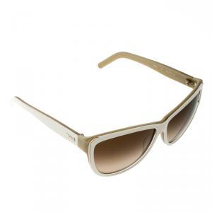Chloe White/Brown CE602S-275 Cat Eye Sunglasses