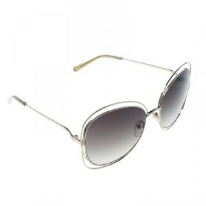 Chloe Gold/Green Gradient CE119S Round Oversized Sunglasses