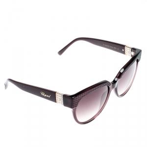 Chopard Purple/Purple Gradient SCH234S Ice Cube Cat Eye Sunglasses