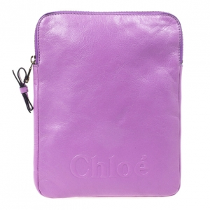 Chloe Purple Leather Ipad Cover